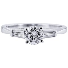 H & H 0.64 Carat Diamond Engagement Ring