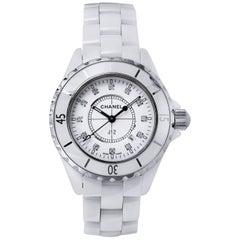 Chanel Ladies White ceramic J12 Quartz Wristwatch