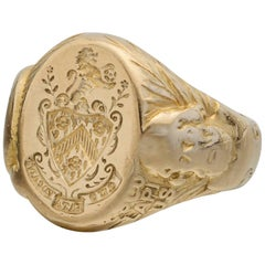 Antique Yellow Gold  Signet Ring