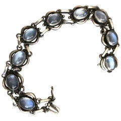 Georg Jensen Sterling Silver Bracelet No 10 with Moonstone
