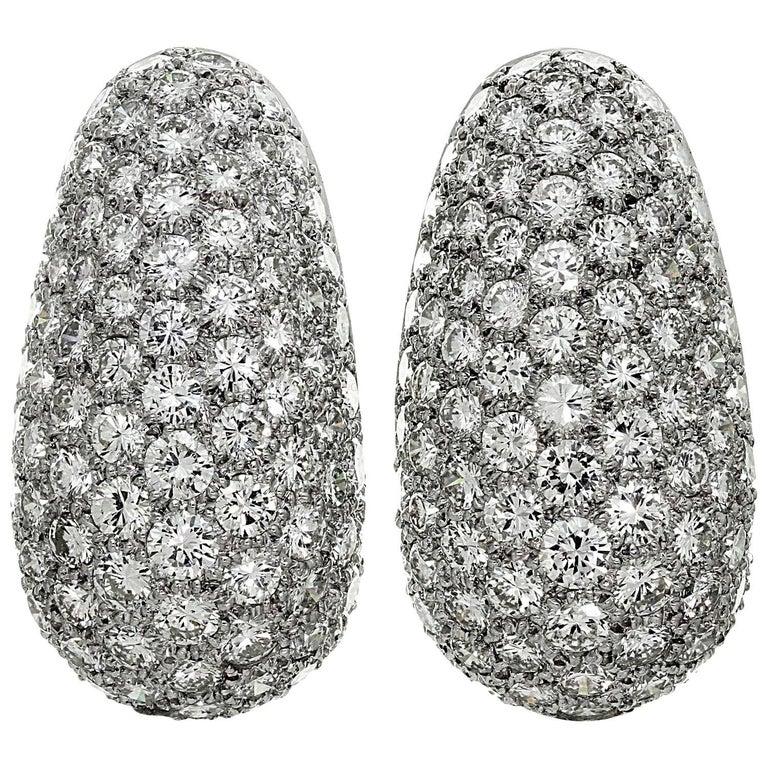 Van Cleef & Arpels Diamond Platinum Earrings