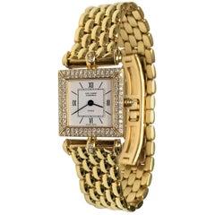 Van Cleef & Arpels Ladies Yellow Gold Diamond Classique Quartz Wristwatch