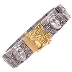 Barry Kieselstein-Cord Women of the World Gold Steel Bracelet