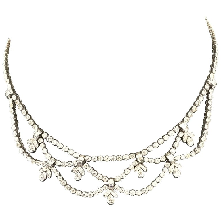 Formal Diamond White Gold Necklace