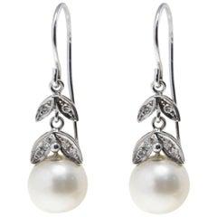 Luise Diamond and Australian Pearl Earrings