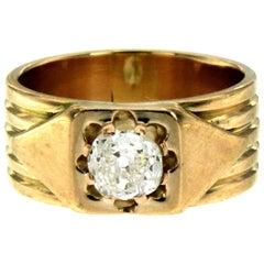 Retro Diamond Gold Band Ring