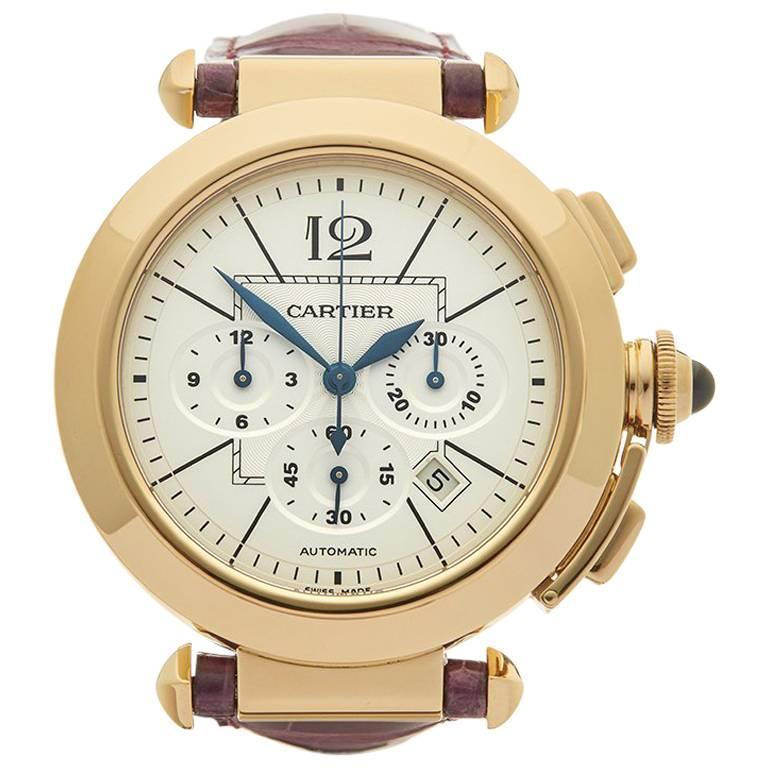 Cartier Yellow Gold Pasha De Cartier Automatic Wristwatch, 2010s