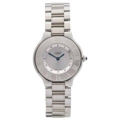 Cartier Ladies Stainless Steel Must De Cartier 21 Quartz Wristwatch, circa 2005