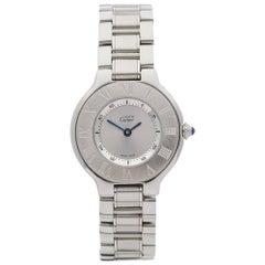 Cartier Ladies Stainless Steel Must De Cartier 21 Quartz Wristwatch, circa 2006