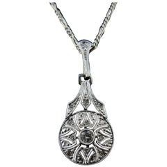 Antique Art Deco Necklace with Diamonds