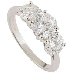 Tiffany & Co. Diamond Trilogy Ring 1.26 Carat