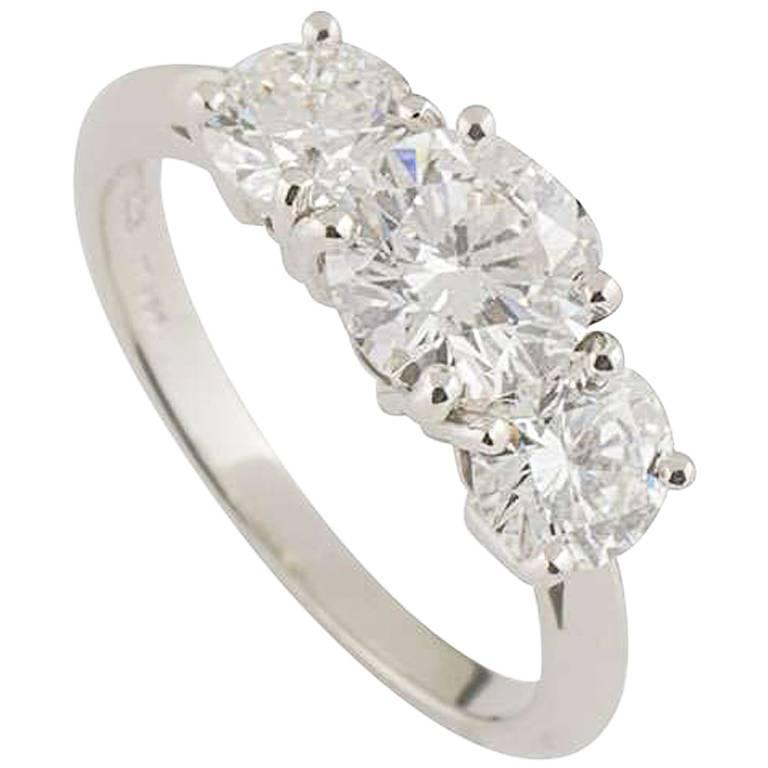 Tiffany & Co. Diamond Trilogy Ring 1.26 Carat