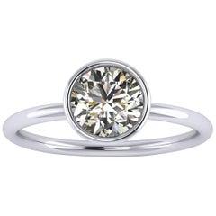 Ferrucci GIA Certified 1.01 Carat White Diamond in 18 Karat Gold Handmade Ring
