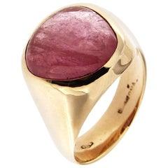 Jona Rubelite Tourmaline Rose Gold Band Ring