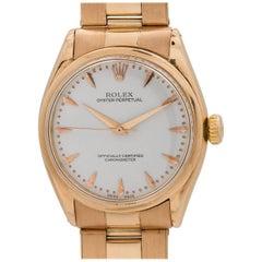 Rolex Rose Gold Oyster Perpetual Self Winding Wristwatch Ref 6284, circa 1950s
