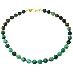 Stunning Green Congolese Chrysocolla Necklace