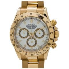Rolex Yellow Gold White Dial Daytona Wristwatch, circa 2008