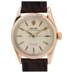 Rolex Rose Gold Stainless Steel Oyster Perpetual Wristwatch, circa 1954