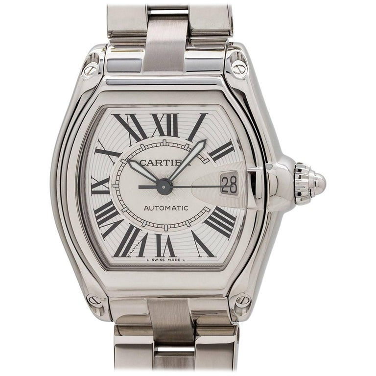Cartier Stainless Steel Roadster automatic wristwatch, circa 2000s 1