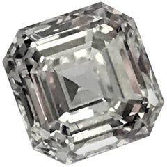 Square Emerald Cut Asscher Diamond 1.02 Carat GIA VVS-1, G