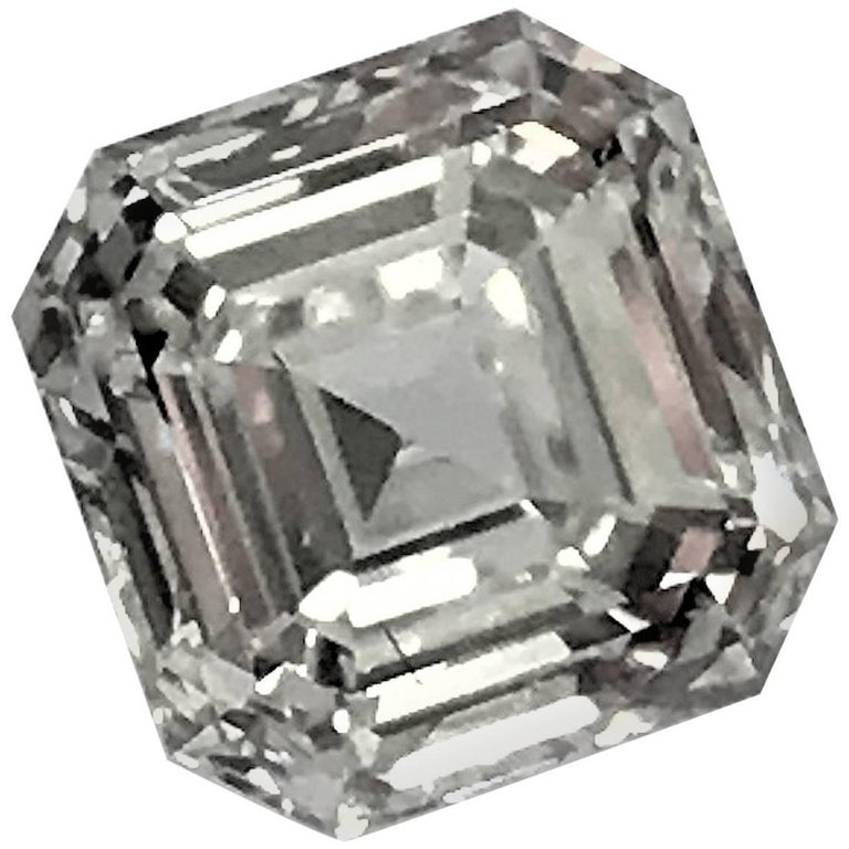 Square Emerald Cut Asscher Diamond 1.02 Carat GIA VVS-1, G 1