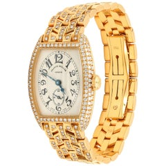 Franck Muller Ladies Yellow Gold Diamond Chronometro Mechanical Wristwatch