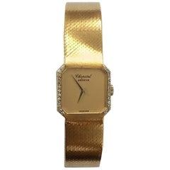 Chopard Ladies Yellow Gold Diamond Manual Wind Wristwatch