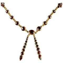 Antique Victorian Garnet Necklace circa 1880 Bohemian Garnets