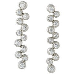 Tiffany & Co. Diamond Bubble Drop Earrings