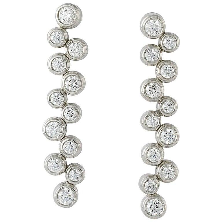 Tiffany & Co. Diamond Bubble Drop Earrings