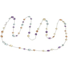 Multi-Gem Necklace Blue Topaz, Amethyst, Citrine, Lemon Quartz, Code by Edge