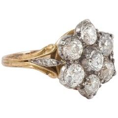 Antique Victorian Diamond Cluster Ring
