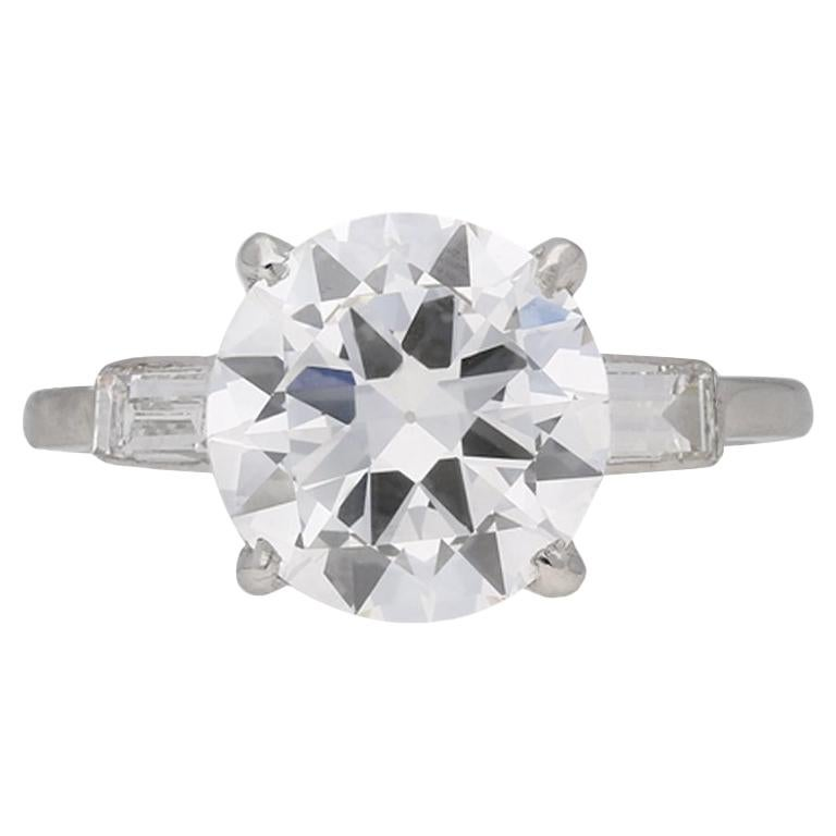 Cartier Solitaire Diamond Platinum Engagement Ring