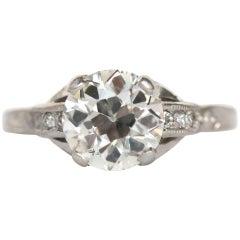 GIA Certified 2.01 Carat Platinum Diamond Engagement Ring