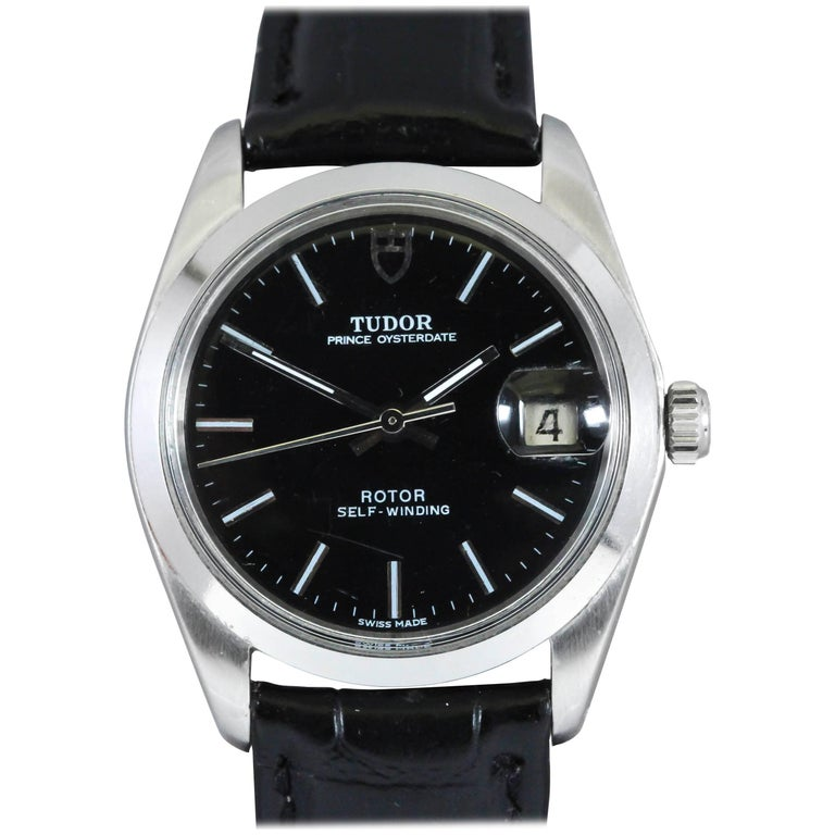 Tudor Stainless Steel Prince Oyster Date Automatic Wristwatch Ref 90500 For Sale
