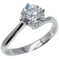 GILIN GIA Certified 1.01 Carat Round Brilliant Diamond Solitaire Engagement Ring