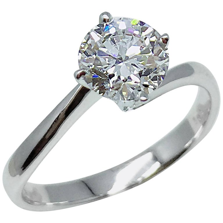 GILIN GIA Certified 1.01 Carat Round Brilliant Diamond Solitaire Engagement Ring 1