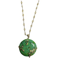 Frederic Sage Green Turquoise Pendant Necklace