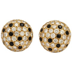 Cartier 'Panthere' Onyx and Diamond Earrings