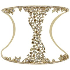 Champagne Diamond Bangle Bracelet