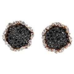 Black Diamond Cluster Earrings