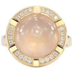 Chaumet Class One Croisiere Rose Quartz Diamond Ring
