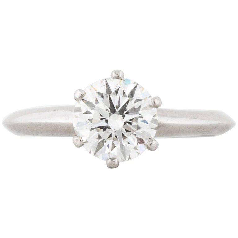 Tiffany & Co. 1.13 Carat Diamond Solitaire Ring