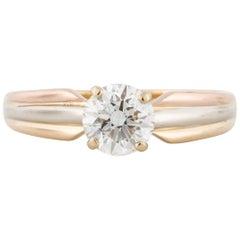 Cartier 18 Karat Tri-Color Gold Diamond Ring
