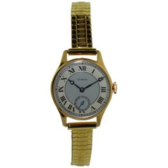 Zenith Ladies Rose Gold Art Deco Handmade Manual Wristwatch