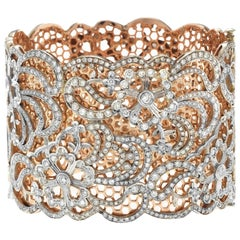 Lace Motif Diamond Rose Gold Bracelet