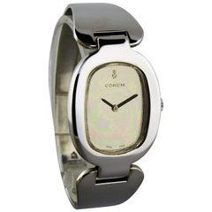 Corum Sterling Silver Cuff Style Manual Watch, 1970s