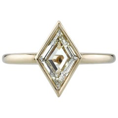 Yellow Gold Lozenge Cut Diamond Ring