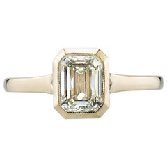 Yellow Gold Emerald Cut Diamond Engagement Ring