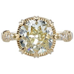 EGL Certified 2.55 Carat Yellow Diamond Engagement Ring